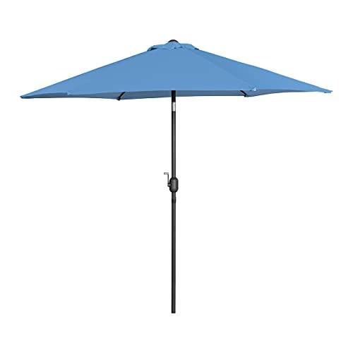 Uniprodo Sombrilla para Terraza Uni_Umbrella_R270BL (Color Azul, Hexagonal, Pantalla De Ø 270 cm, Inclinable)