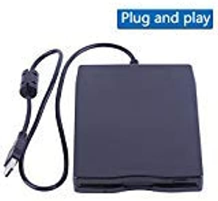 "3.5"" USB External Floppy Disk Drive Portable 1.44 MB FDD for PC Windows 2000/XP/Vista/7/8/10 Mac,No Extra Driver Required,Plug Play,Black"