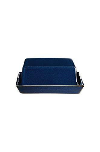 ASA Butterdose, midnight blue SAISONS 16,5 x 13,5 cm, H. 7 cm 4708119 Neuheit 2020 ! Vorteilsset beinhaltet 2 x den genannten Artikel und Set mit 4 EKM Living Edelstahl Strohhalme