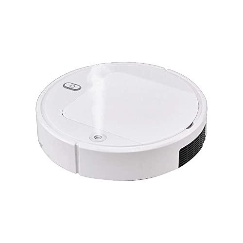 UV Aspiradora Automática con Robot, 2500Pa Aspiradora De Barrido En Seco Y Húmedo con Carga USB, Barredora Automática Inteligente para La Limpieza del Hogar con Pieles Cabello