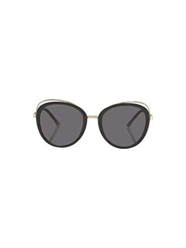 TOM TAILOR Damen Eyewear Sonnenbrille mit großen Gläsern black-gold,OneSize