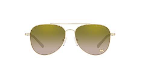 Michael Kors 0MK1045 Occhiali da Sole, Blu (Light Gold), 56 Donna