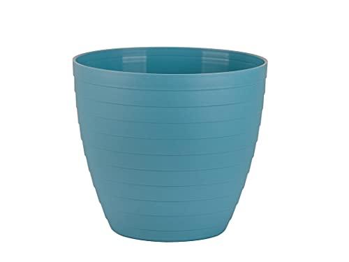Macetas para Exterior de Plástico 13 cm (2 uds) Maceta plástico Grande para Plantas. Macetero Interior Terraza Moderno de Colores para Jardinería. Tiestos Jardineras para Flores