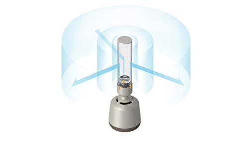 Sony LSPXS2 - Altavoz portátil de Cristal (Bluetooth, Wi-Fi, Sonido Envolvente 360, LED Regulable, Hi-Res Audio) Cristal