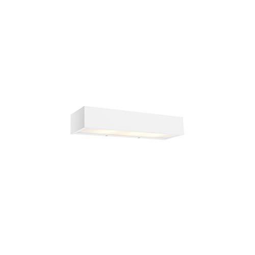 QAZQA Design langwerpige wandlamp wit 35 cm - Houx Aluminium Langwerpig/Rechthoekig Geschikt voor LED Max. 3 x 5 Watt