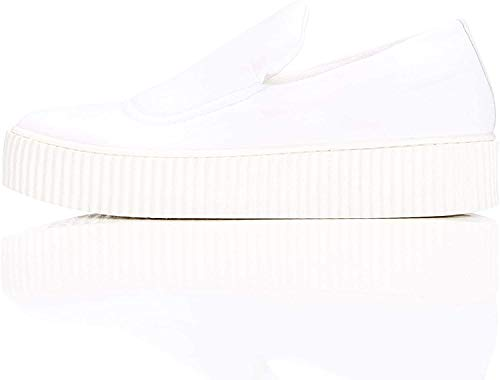 find. Zapatillas de Deporte sin Cordones para Mujer, Blanco (White), 38 EU