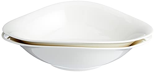 Villeroy und Boch - Vapiano Pastaschalen-Set, 2 tlg., 800 ml, 27 x 21 cm, Premium Porzellan, spülmaschinen-, mikrowellengeeignet, weiß