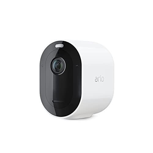 Arlo Pro 4 Spotlight Camera - 1 Pack - Wireless Security, 2K Video & HDR, Color Night Vision, 2 Way Audio, Wire-Free, Direct to WiFi No Hub Needed, White - VMC4050P (Renewed)