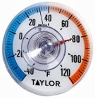 """Taylor Precision 5321N Window Thermometer-40 to 120 Deg F 3-1/2"""" Dial"""
