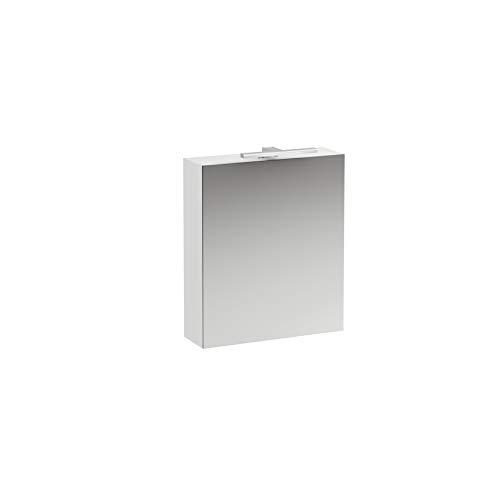 Laufen Base Spiegelschrank 600 mm, 1 Tür, LED- Licht Element, Scharnier rechts, Farbe: Ulme hell