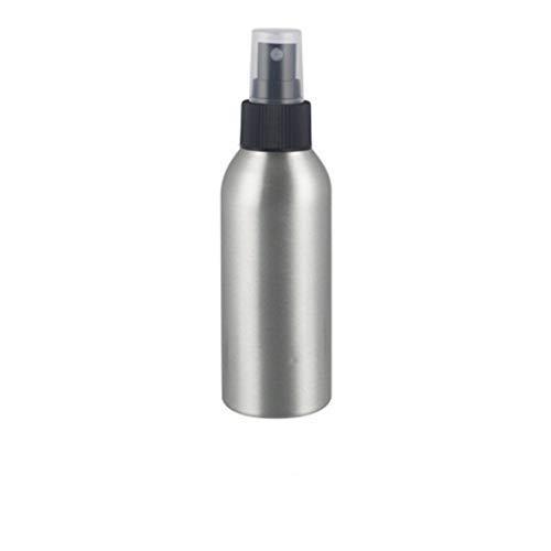 Idiytip Portable Voyage Antirouille Bouteille Vide en Aluminium Bouteille Vaporisateur Rechargeable Cosmétique Liquide Récipient,150ml Noir