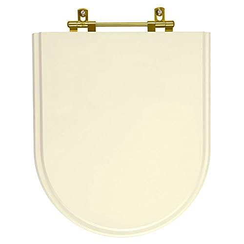 Assento Sanitario Belle Epoque Creme Para Vaso Deca Com Ferragem Dourada