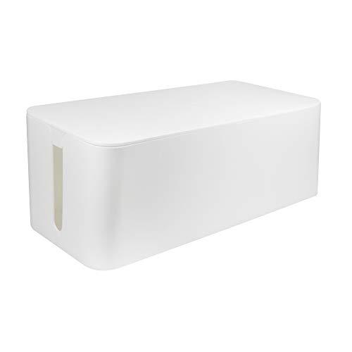 LogiLink KAB0063 - Kabelbox groß (407 x 157 x 133,5 mm), weiß