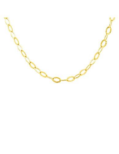 Cadena Oro Amarillo hueca fantasía