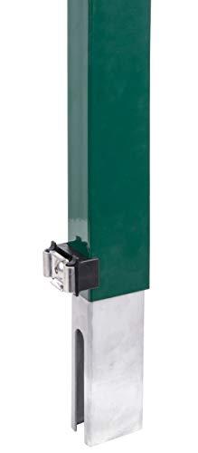 GAH-Alberts 672690 Zaunerhöhung Erhard | zur einfachen Erhöhung eines vorhandenen Doppelstabmattenzaunes | grün | Höhe 800 mm | für Pfosten 60 x 40 mm