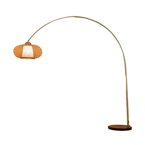 SHIJIANX Lámpara de Pie - Lámpara de Pesca Creativa, Sala de Estudio, Sala de Estar, salón de té, lámpara de pie, lámparas de Arco, Pantalla Tejida a Mano