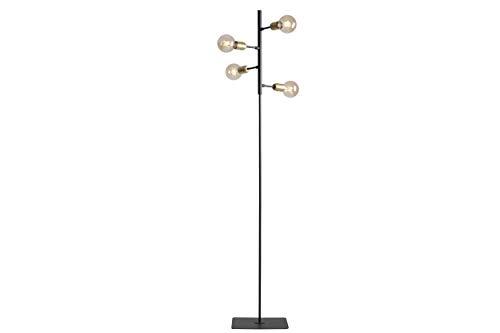 Homemania HOMAX_4761 - Lámpara de suelo Puppisper para interiores, suelo negro, metal, 34 x 34 x 168 cm