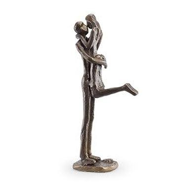 Danya B Passionate Kiss Sculpture in Bronze Finish