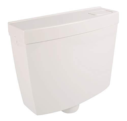 Calmwaters® Schmaler Spülkasten mit Spül-Stopp-Funktion, 6-9 Liter Spülmenge, Aufputzspülkasten WC schmal, Spülkasten Weiß für Aufputz-Montage, mit Start-Stopp-Taste, 29HB2718