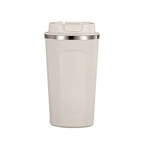 MISS Z Taza del Termo de café de Acero Inoxidable portátil de 510 ml con la Botella Termal de la Botella térmica del Viaje del Viaje del Coche del Coche de la Paja para Regalos (Color : White)