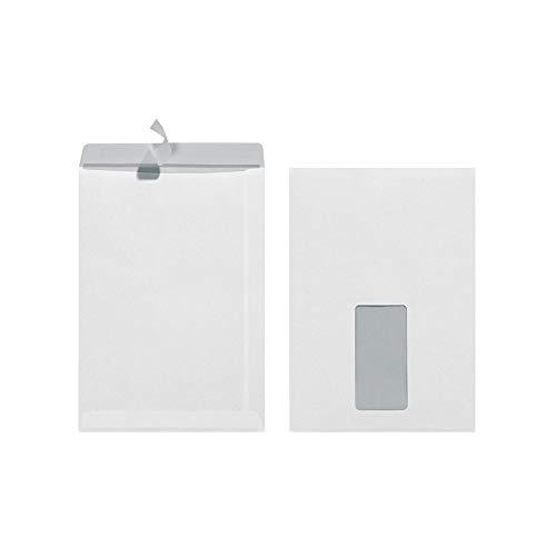 Herlitz Versandtasche C5 90 g Haftklebend, eingeschweißt, weiß (50 Stück mit Fenster)