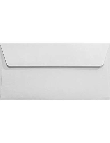 Netuno 25 Weiß DIN Lang Briefkuverts gerippt 110x220 mm 120g Aster Laid White elegante Briefumschläge DL haftklebend ohne Fenster Briefhüllen festliche Umschläge für Grußkarten Einladungskarten