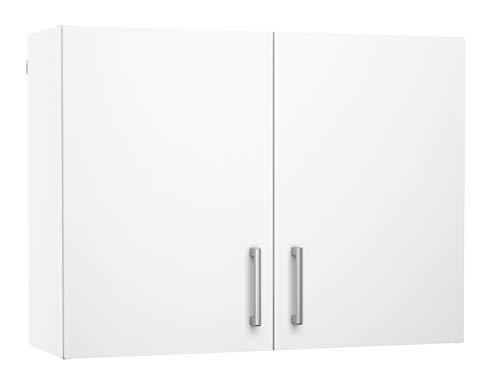PEGANE Meuble de cusine Haut 2 Portes Coloris Blanc - Dim : L80 x P28 x H60 cm