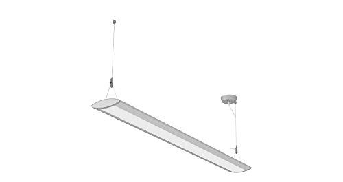 Preisvergleich Produktbild Maul Maulstraight,  Hängelampe aus Aluminium,  127,  5 x 6,  5 cm,  720 Lux,  Neutralweiß [Energieklasse A+] LED-Pendelleuchte,  Silber