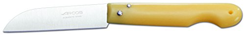 Arcos Professional Knives-Pocket Knife-Blade Nitrum Stainless Steel 85 mm (3.35 Inches) -Handle Polypropylene Brown Colour, 18/8,85 mm,485300