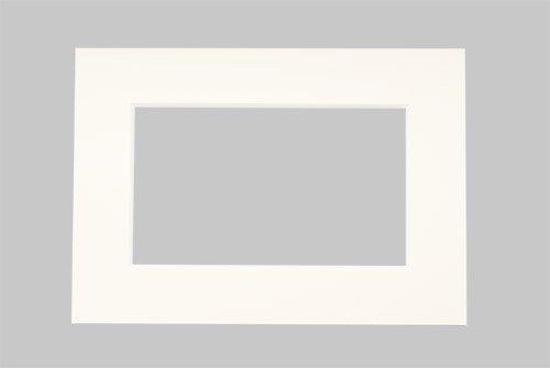 Art&More Passepartout 3er Set Elfenbein 10x15 cm mit Ausschnitt für 9x13 cm Bilder, Passepartouts in Museumsqualität - 3 Stück