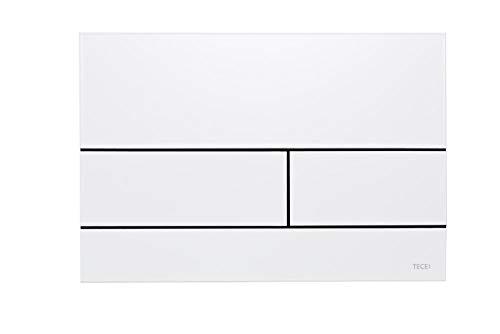 TECE Square Betätigungsplatte für WC (weiß glänzend, Zweimengentechnik, bedienbar von Oben und vorne) 9240832