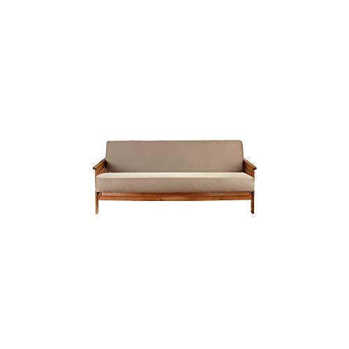 Surefit Futon Slipcover - Sarga, hasta 75 Pulgadas, Lavable a máquina, 100% algodón, Color marrón