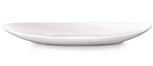 Fitting Gifts Bistro Collection Plats de Service Prometeo de Forme Ovale, Blanc Brillant (2 Pièces)