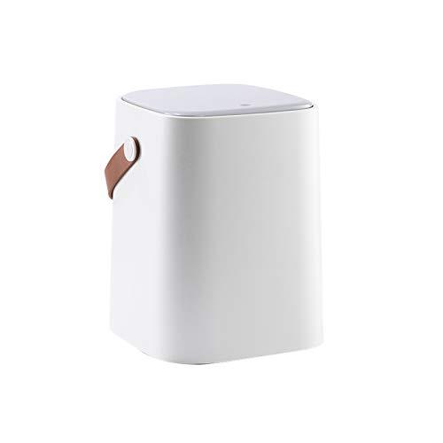 Bote de basura La basura de plástico portátil puede con la Clasificación de la tapa de empuje bote de basura de una estancia doméstica de estar dormitorio doble capa bote de basura de papel higiénico