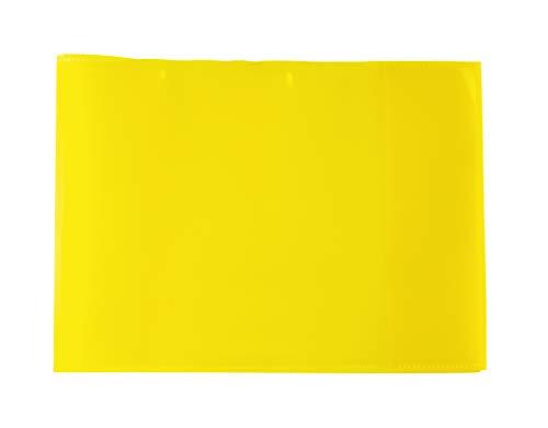 HERMA 19619 Heftumschläge DIN A5 quer transparent, durchsichtig, Hefthüllen aus strapazierfähiger, abwischbarer und extra dicker Polypropylen-Folie, 10er Set Heftschoner für Schulhefte, gelb