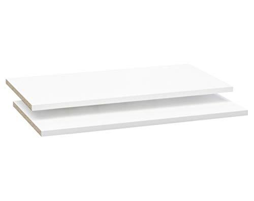 AVANTI TRENDSTORE - Peer - Armadio con 2 Ante scorrevoli, Corpo in Legno Laminato di Colore Bianco con Decoro in Grigio Cemento d'imitazione sul Lato Frontale, Dimensioni: Lap 170x195x61 cm (Ripiani)