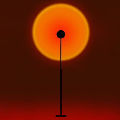 Luz de inundación de 12w Sunset, lámpara de proyección de Sunset de 16 Colores, luz de Puesta de Sol de 360 Grados, Altura escalable de luz para Fiestas de Tiro