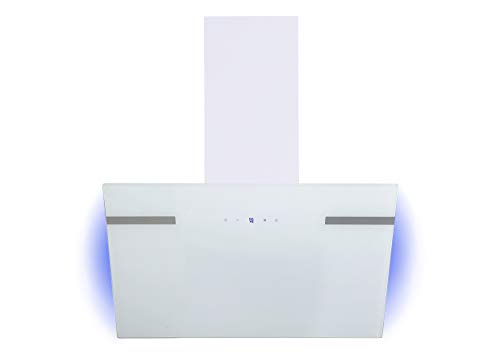 respekta Campana inclinada de diseño, 60 cm, color blanco con retroiluminación CH69060WA+, eficiencia energética A+.
