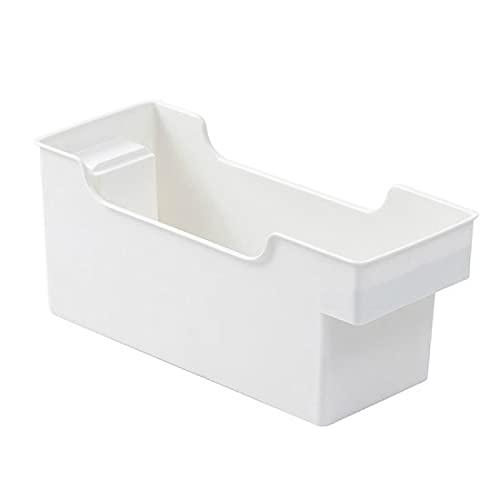 MRBJC Caja de almacenamiento de plástico para el hogar Organizador para accesorios de cocina Cesta de almacenamiento de la cocina/estante ahorro de espacio baño estante blanco 25.5x10.5x12.5cm