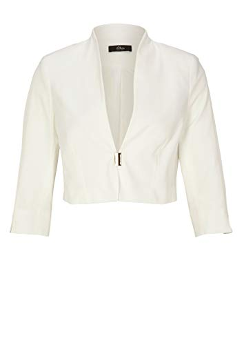 s.Oliver BLACK LABEL 155.10.005.15.152.2037580 Blazer, 0200 Soft White, 48 para Mujer