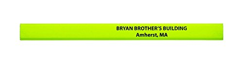 Pencil Guy Promotional Personalized Imprinted Neon Carpenter Pencils -1000 per box Neon Yellow