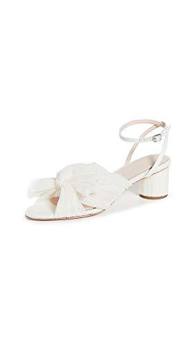 Loeffler Randall Women's Dahlia Knot Sandals, Pearl, Off White, 8 Medium US