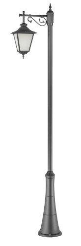 PRAGA L426_L89_GA Lampion groot 1 palen van aluminium H300 cm antraciet - gemaakt van VALASTROlighting - klassieke autoradio's