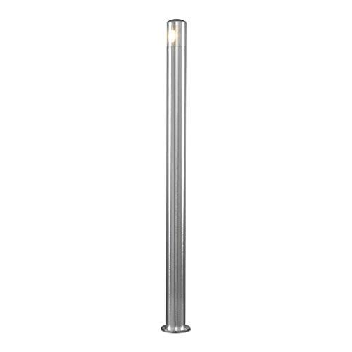 Konstsmide Monza 7923-310 wegverlichting HighPowerLED/B: 6cm D: 6cm H: 100cm / 2x3W / IP44 / Aluminium/zilvergrijs