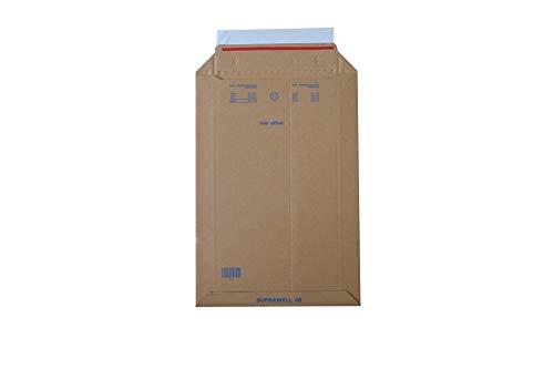 Carte Dozio - Buste Rigide in Cartone con Apertura Lato Corto per Spedizioni - F.To Int. Mm 250X353-25 Pz a Conf