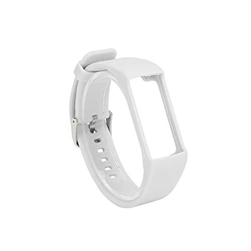 XIXI-Home Colorido Silicone Smart Watch Band Fit para Polar A360 A730 GPS Smart Watch Strap Fit para Polar Smart Pulsera Correa Accesorios (Color : White)