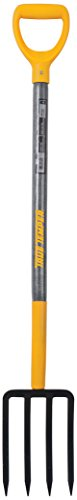 True Temper 2812200 4-Tine Spading Digging Fork with 30 in. Hardwood D-Grip Handle, 30 Inch