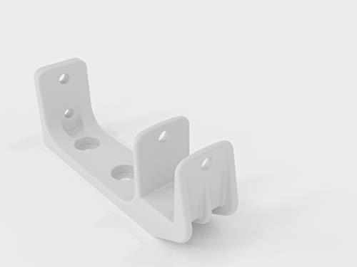 Vana deutschland GmbH Alu Decken und Wandhalterung mit Befetigung Markise Kombihalterung 40mm Weiss / SPP059 (1-Stück Weiß)
