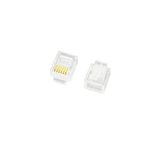 X-DREE 2Pcs RJ11 Network Modular 6P6C 6 Posiciones 6 Contactos Conector de...