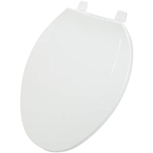Do It Best Global Sourcing - Toilet Seats 445441 Home Impressions Elongated Plastic Toilet Seat, White